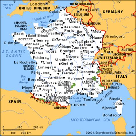 maps  france  cities  printable maps