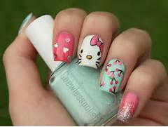 hello kitty nails desi...