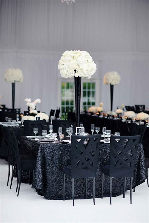 black and white table arrangements elegant black and white wedding that will wow you mon