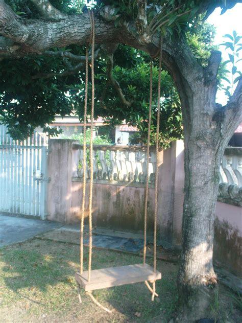 diy  simple tree swing  steps  pictures