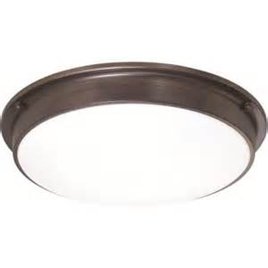 sylvania 3 light old bronze indoor led ceiling flushmount