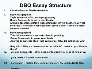 Thesis outline template apa argumentative essay outline for Dbq essay outline template