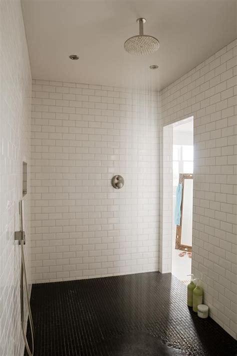 large walk in shower black white tile ba 241 os