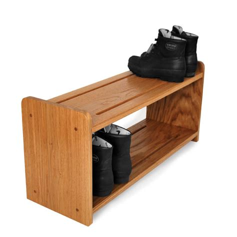 small shoe rack oak shoe racks handmade in solid oak various sizes