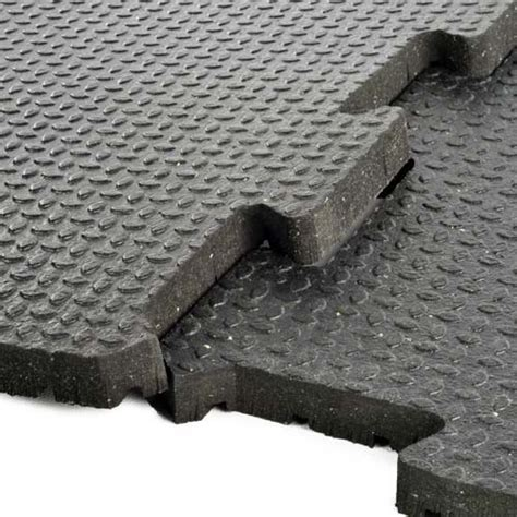 3/4 Inch Rubber Flooring   2x2 ft Interlocking Tiles, Gym