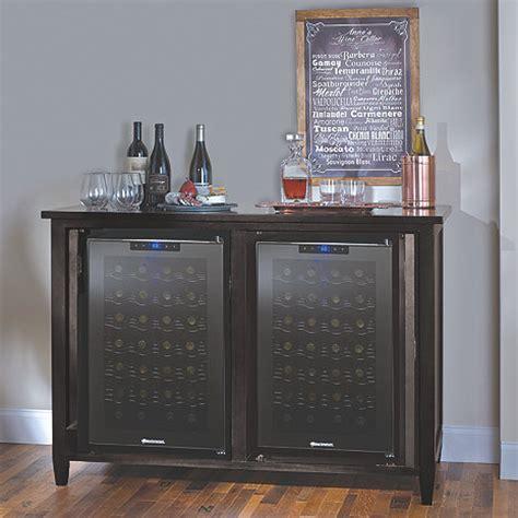 Wine Storage Credenzas - firenze mezzo wine and spirits credenza with two 28 bottle