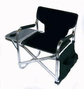 professional folding directors chair with side table cup