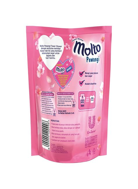 molto pewangi pakaian refill pink ml klikindomaret