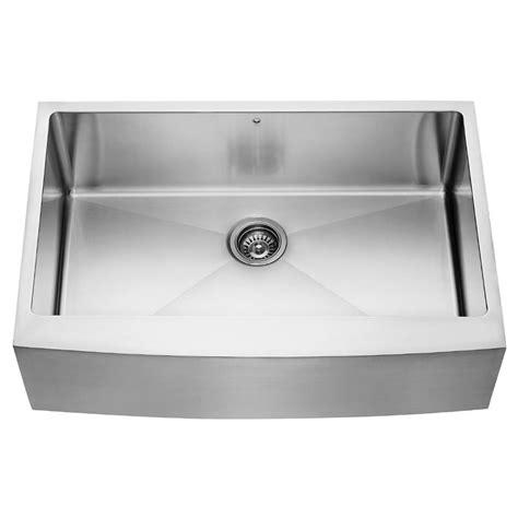 stainless steel apron front kitchen sink vigo farmhouse apron front stainless steel 33 in single 9383