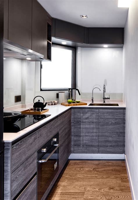 built in kitchen cabinets proof that in a 480 sq ft hong kong flat less is more 4988
