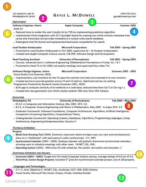 How A Resume Should Look Like by This Is What A Resume Should Look Like Careercup