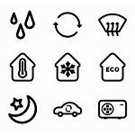 Clipart Air Thermometer Heating Icons Transparent Hvac
