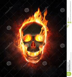 Evil Skull with Flames