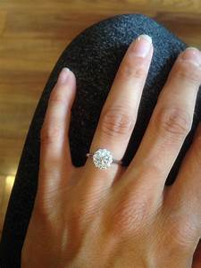 round diamond engagement ring on finger wwwpixsharkcom With wedding ring on