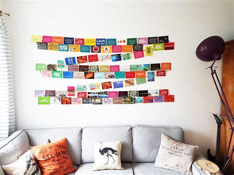 Postkarten Aufhängen Ideen by Geniale Idee Um Viele Fotos Und Postkarten Einfach Auf Der