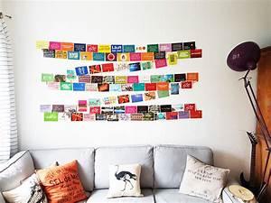 Idee Für Fotowand : geniale idee um viele fotos und postkarten einfach auf der wand zu pr sentieren wanddeko ~ Markanthonyermac.com Haus und Dekorationen