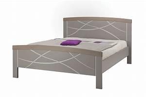 Lit Adulte Haut : lit arrondi pied haut serena laque argile meubles minet ~ Preciouscoupons.com Idées de Décoration