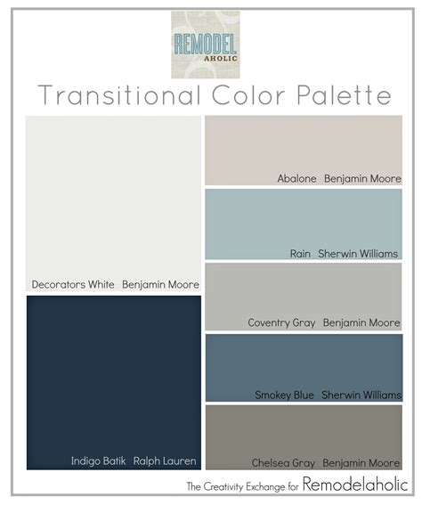 transitional color palette paint colors that are great