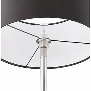Lampe Design Sur Pied : lampe sur pied design r glable en hauteur latium en tissu noir ~ Teatrodelosmanantiales.com Idées de Décoration