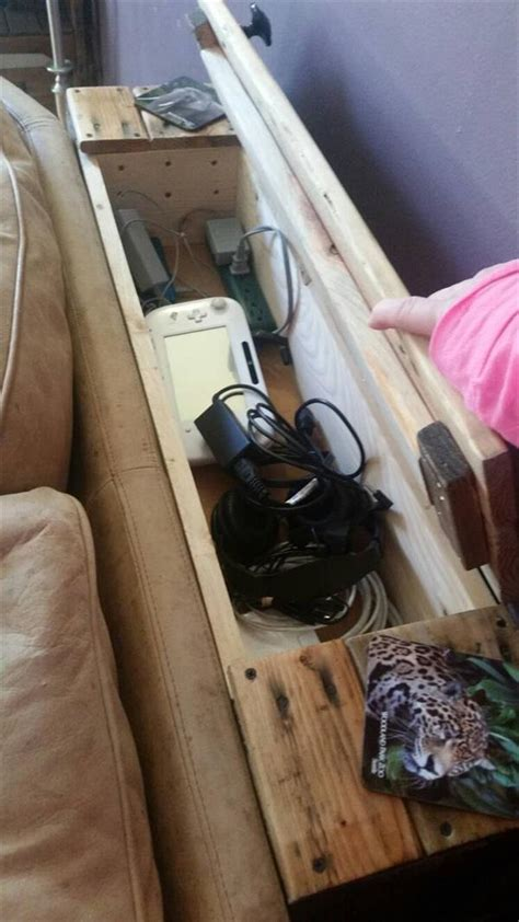 sofa table charging station pallet behind sofa table pallet furniture plans