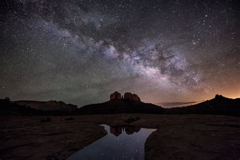 The Milky Way Over Sedona Natural World Scott