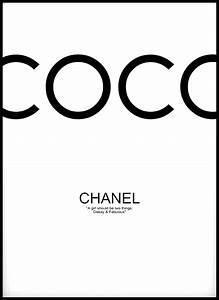 Coco Chanel Bilder : coco chanel black 50x70 cm bga fotobutik ~ Cokemachineaccidents.com Haus und Dekorationen