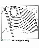 Flag American Coloring Printable Pages Below sketch template