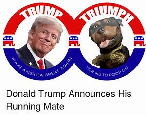 GREAT a AMERICA FOR ME TO ON Poop Donald Trump Announces ...