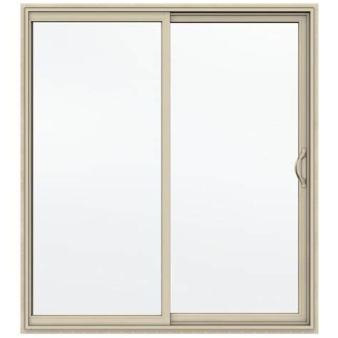 jeld wen builders series 72 quot x 80 quot almond vinyl low e 366