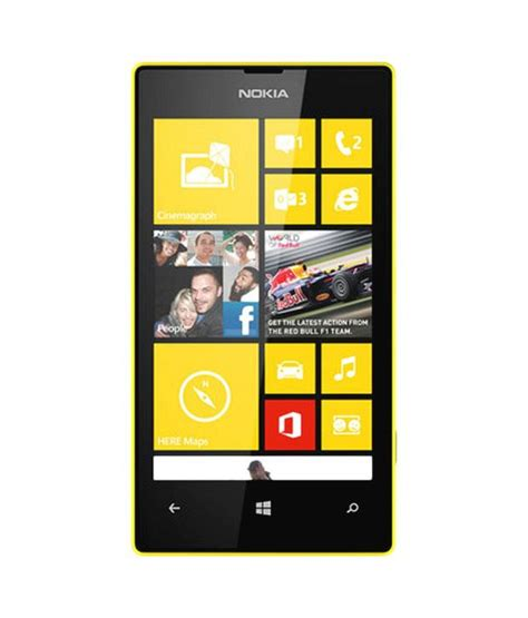 nokia lumia 520 yellow mobile phones at low prices snapdeal india