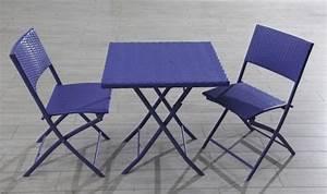 Table Chaise Balcon : petit salon de jardin pour balcon pas cher table et chaise de jardin design djunails ~ Teatrodelosmanantiales.com Idées de Décoration