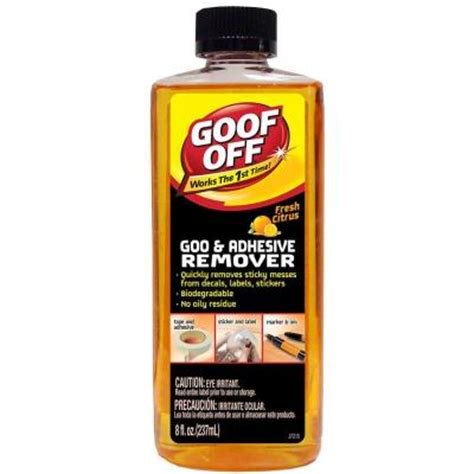 Tile Adhesive Remover Home Depot by Goof 8 Oz Pourable Adhesive Remover Fg791 The Home