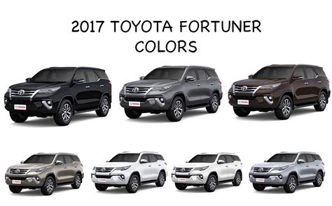 Toyota Colors by 2017 New Toyota Fortuner Colors Black Bronze Brown Grey