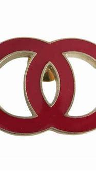 CHANEL Logo CC red metal brooch | Modsie