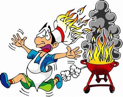 Funny Clip Fire Cook Hat Clipart Cartoon