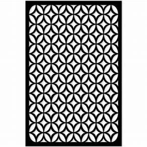 Acurio Latticeworks 1/4 in x 32 in x 4 ft Black Moors