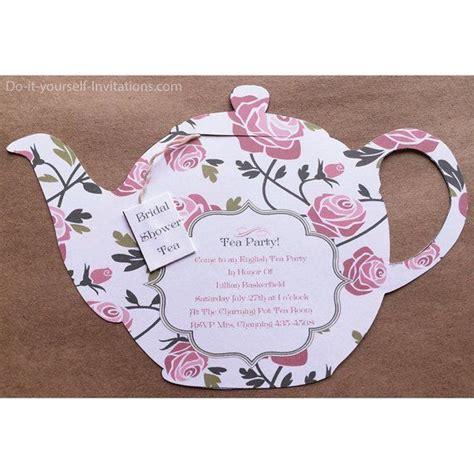 printable  occasion tea party invitation tea pot