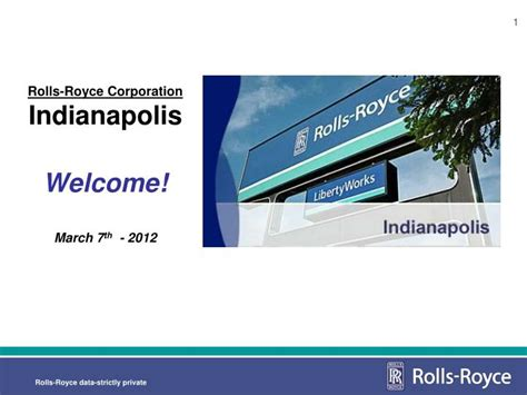 Rolls Royce Indianapolis Address by Ppt Rolls Royce Corporation Indianapolis Welcome March