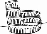 Colosseum Coloring Drawing Printable Pattern Pages Ruined Yarmulke Crochet Yarmulkes Crocheted Getdrawings Line sketch template