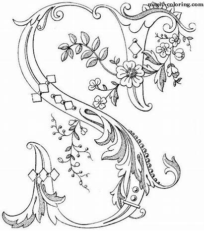 Coloring Letters Pages Alphabet Illuminated Monogram Lettering
