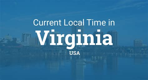 time  virginia united states