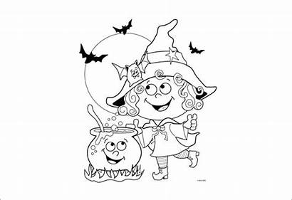 Coloring Pages Witch Halloween Word Pdf Party