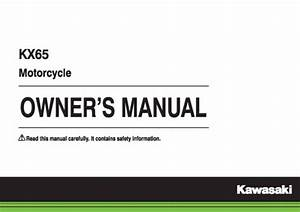 Kawasaki Owners Manual Book 2015 Kx65