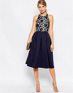 asos asos lace top skater midi dress With robe patineuse grise