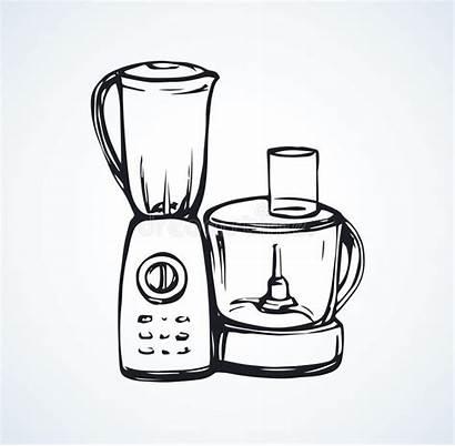 Drawing Blender Processor Mixer Grinder Immersion Kitchen