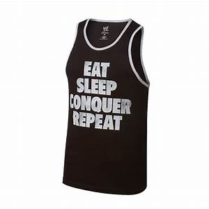 "Brock Lesnar ""Eat, Sleep, Conquer, Repeat"" Vintage Tank ..."