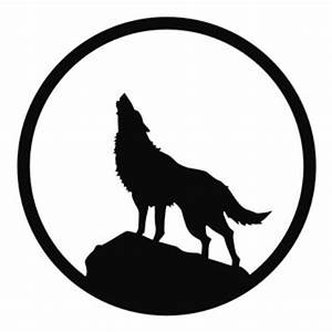 Alf img showing white wolf silhouette clip art - Clipartix