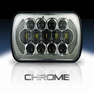 7 U00d76  5 U00d77  H6054 200mm Led Projector W  Drl Headlight Chrome  1 Lamp
