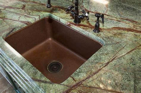 countertop rainforest granite with copper sink micka