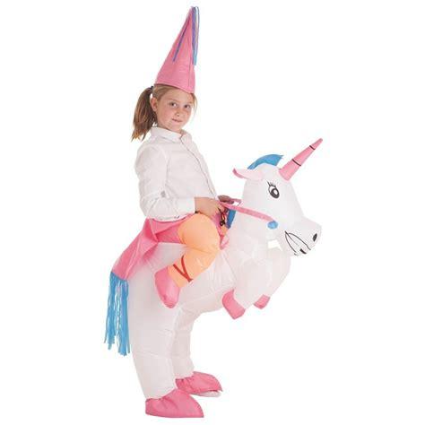 Disfraz Hinchable de Unicornio con Hada o Princesa para niña